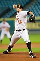 Starting pitcher Zack Godley #15 of the Tennessee Volunteers in action against the Texas Longhorns at Minute Maid Park on March 3, 2012 in Houston, Texas.  The Volunteers defeated the Longhorns 5-4.  Brian Westerholt / Four Seam Images
