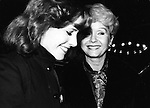 Carrie Fisher and Debbie Reynolds attend a Broadway show October 1, 1979 in New York City.