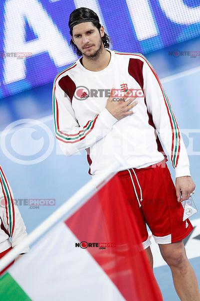 Hungary's Laszlo Nagy during 23rd Men's Handball World Championship preliminary round match Hungary v Spain.January 17,2013. (ALTERPHOTOS/Acero)