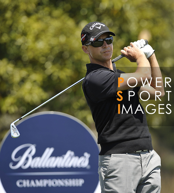 JEJU, SOUTH KOREA - APRIL 25:  Niclas Fasth of Sweden tees off on the 14th hole during the Round Three of the Ballantine's Championship at Pinx Golf Club on April 25, 2010 in Jeju, South Korea. Photo by Victor Fraile / The Power of Sport Images