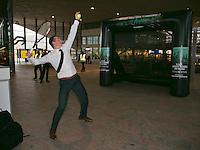 13-02-14, Netherlands,Rotterdam,Ahoy, ABNAMROWTT, Richard Kraijcek at Rotterdam Centraal<br /> Photo:Tennisimages/Henk Koster