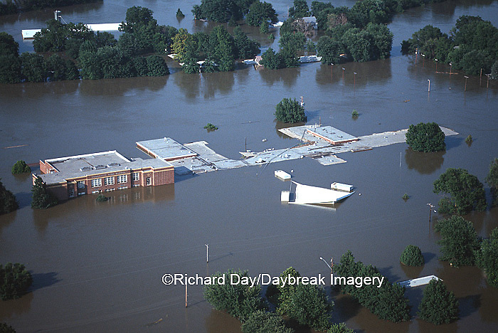 63816-01906 Valmeyer High School during Flood of '93  8/6/93 Valmeyer   IL