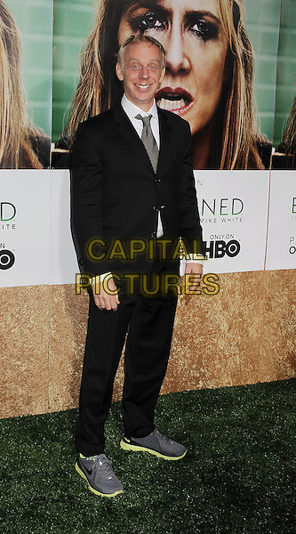 "Mike White.arriving at the Los Angeles Premiere of HBO's ""Enlightened"" at Paramount Theater on the Paramount Studios backlot in Hollywood, California on October 6th, 2011..full length black suit white shirt tie grey gray trainers .CAP/ROT/TM.©TM/Rothstock/Capital Pictures"