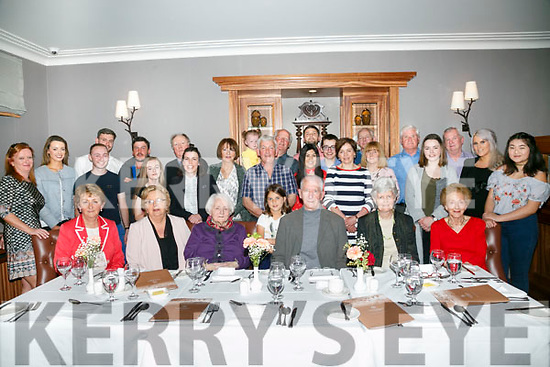 Kitty Moriarty, Castlegregory (seated 3rd from left) celebrates her 90th Birthday with family and friends at a luncheon at Ballygarry House Hotel on Monday