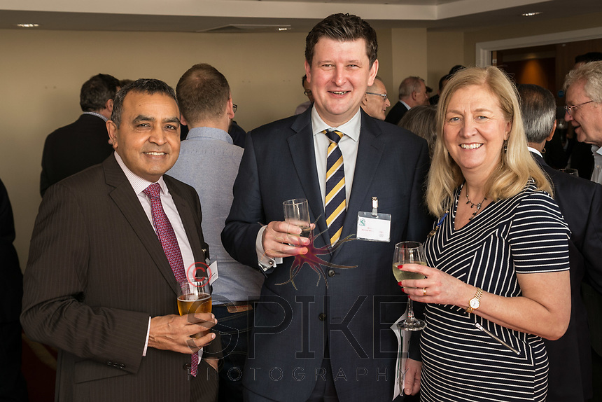 From left are Gurmall Raju of Ryley Wealth Management, Michael Wisher of Michael Wisher Corporate Hospitality Personnel and Dianne Allen of Gemini PR & Marketing