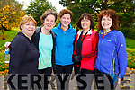 Taking part in the Kerry Health and Wellbeing Parkrun in the Tralee Town park on Saturday.<br /> L-r, Joan O&rsquo;Connell (Lixnaw), Hilda Jones (Tralee), Nora O&rsquo;Connell (Knocknagoshel), Majella Cahill (Knocknagoshel) and Mag O&rsquo;Callaghan (Abbeyfeale).
