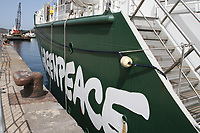 "NAPOLI, ITALIA, 30.06.2017 - GREEPEACE-ITALIA - O barco do Greepeace ""Rainbow Warrior"" é visto em Napoli na Italia nesta sexta-feira, 30. (Foto: Salvatore Esposito/Brazil Photo Press)"