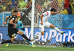 (L-R) Daniel Van Buyten, Thibaut Courtois (BEL), Lee Keun-Ho (KOR),<br /> JUNE 26, 2014 - Football / Soccer :<br /> FIFA World Cup Brazil 2014 Group H match between South Korea 0-1 Belgium at Arena de Sao Paulo in Sao Paulo, Brazil. (Photo by SONG Seak-In/AFLO)