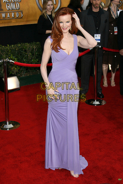 MARCIA CROSS.12th Annual Screen Actors Guild Awards (SAG) held at the Shrine Auditorium, Los Angeles, California..January 29th, 2006.Photo: Zach Lipp/AdMedia/Capital Pictures.Ref: ZL/ADM.full length dress purple.www.capitalpictures.com.sales@capitalpictures.com.© Capital Pictures.