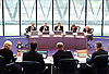 MOPAC Challenge <br /> Child Sexual Exploitation<br /> meeting at City Hall <br /> chaired by Stephen Greenhalgh, Deputy Mayor for Policing &amp; Crime in The Chamber City Hall, London, Great Britain <br /> 10th June 2015 <br /> <br /> Stephen Greenhalgh <br /> <br /> with <br /> <br /> Steve O'Connell <br /> Jonathan Glanz<br /> Keith Prince <br /> Helen Bailey <br /> <br /> <br /> <br /> Photograph by Elliott Franks <br /> Image licensed to Elliott Franks Photography Services