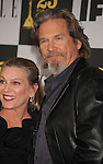 LOS ANGELES, CA. - March 05: Actor Jeff Bridges(R) and wife Susan Geston arrive at the 25th Film Independent Spirit Awards held at Nokia Theatre L.A. Live on March 5, 2010 in Los Angeles, California.