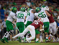 Stanford, CA - September 21, 2019: Andrew Pryts at Stanford Stadium. The Stanford Cardinal fell to the Oregon Ducks 21-6.