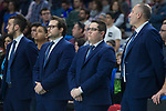 San Pablo Burgos coach Diego Epifanio during Liga Endesa match between Movistar Estudiantes and San Pablo Burgos at Wizink Center in Madrid , Spain. March 25, 2018. (ALTERPHOTOS/Borja B.Hojas)