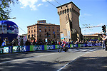 Joseph Drombrowski (USA) EF Education First in action during Stage 1 of the 2019 Giro d'Italia, an individual time trial running 8km from Bologna to the Sanctuary of San Luca, Bologna, Italy. 11th May 2019.<br /> Picture: Eoin Clarke | Cyclefile<br /> <br /> All photos usage must carry mandatory copyright credit (© Cyclefile | Eoin Clarke)