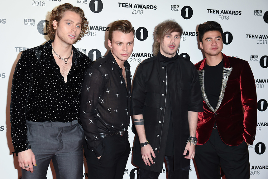 5 Seconds of Summer<br /> arriving for the Radio 1 Teen Awards 2018 at Wembley Stadium, London<br /> <br /> ©Ash Knotek  D3454  21/10/2018