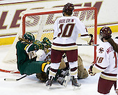 Erin Wente (Vermont - 18), Corinne Boyles (BC - 29), Blake Bolden (BC - 10) - The University of Vermont Catamounts defeated the Boston College Eagles 5-1 on Saturday, November 7, 2009, at Conte Forum in Chestnut Hill, Massachusetts.