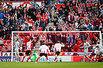 Sunderland fans celebrate the equalising goal scored by Jordan Willis. Sunderland 2 Portsmouth 1, 17/08/2019. Stadium of Light, League One. Photo by Paul Thompson.