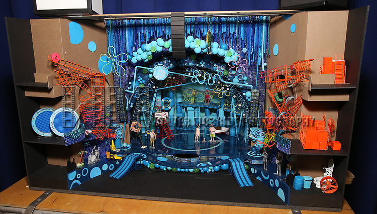 Set model & design during the Rehearsal Press Preview of the New Broadway  Musical on 'SpongeBob SquarePants'  on October 11, 2017 at the Duke 42nd Street Studios in New York City.