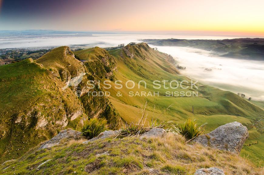 Te Mata Peak at dawn, North Island