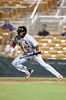 Peoria Javelinas outfielder C.J. McElroy (27) during an Arizona Fall League game against the Glendale Desert Dogs on October 13, 2014 at Camelback Ranch in Phoenix, Arizona.  The game ended in a tie, 2-2.  (Mike Janes/Four Seam Images)