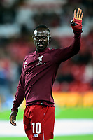 Liverpool's Sadio Mane waves to the fans prior to the match<br /> <br /> Photographer Richard Martin-Roberts/CameraSport<br /> <br /> UEFA Champions League Group C - Liverpool v Crvena Zvezda - Wednesday 24th October 2018 - Anfield - Liverpool<br />  <br /> World Copyright © 2018 CameraSport. All rights reserved. 43 Linden Ave. Countesthorpe. Leicester. England. LE8 5PG - Tel: +44 (0) 116 277 4147 - admin@camerasport.com - www.camerasport.com