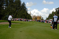 Braley Dredge takes his 3rd shot on the 9th hole during the final round of the Irish Open on 20th of May 2007 at the Adare Manor Hotel & Golf Resort, Co. Limerick, Ireland. (Photo by Eoin Clarke/NEWSFILE)...