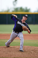 Colorado Rockies pitcher Sam Thoele (73) during an instructional league game against the SK Wyverns on October 10, 2015 at the Salt River Fields at Talking Stick in Scottsdale, Arizona.  (Mike Janes/Four Seam Images)