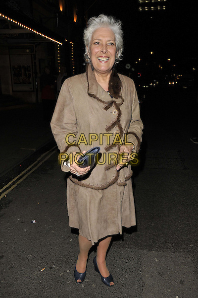 LONDON, ENGLAND - FEBRUARY 25: Lynda Bellingham attends the &quot;The Full Monty&quot; press night, Noel Coward Theatre, St Martin's Lane, on Tuesday February 25, 2014 in London, England, UK.<br /> CAP/CAN<br /> &copy;Can Nguyen/Capital Pictures