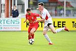 2018-06-22 / Voetbal / Seizoen 2018-2019 / Hoogstraten VV - R. Antwerp FC / Antoine Bernier (Antwerp) met Ruben Meynendonckx <br /> <br /> ,Foto: Mpics