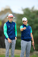 Luke O'Neil &amp; Odhran Maguire of Ireland during Day 2 / Foursomes of the Boys' Home Internationals played at Royal Dornoch Golf Club, Dornoch, Sutherland, Scotland. 08/08/2018<br /> Picture: Golffile | Phil Inglis<br /> <br /> All photo usage must carry mandatory copyright credit (&copy; Golffile | Phil Inglis)