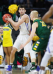 SIOUX FALLS, SD - MARCH 7:  John Konchar #4 of Fort Wayne is defended by A.J. Jacobson #21 of North Dakota State in the 2016 Summit League Tournament.  (Photo by Dick Carlson/Inertia)