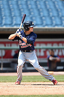 Blake Reese (14) of Lincoln High School in Tallahassee, Florida playing for the Atlanta Braves scout team during the East Coast Pro Showcase on August 2, 2014 at NBT Bank Stadium in Syracuse, New York.  (Mike Janes/Four Seam Images)