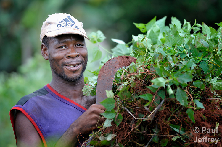A farmer in Mizak, Haiti, where the United Methodist Committee on Relief (UMCOR) is helping farmers battle hunger by improving their agricultural practices.
