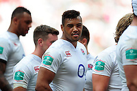 Luther Burrell of England looks on after the match. Old Mutual Wealth Cup International match between England and Wales on May 29, 2016 at Twickenham Stadium in London, England. Photo by: Patrick Khachfe / Onside Images
