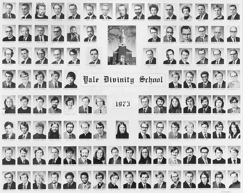 1973 Yale Divinity School Senior Portrait Class Group Photograph