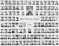 1973 Yale Divinity School Senior Portrait Class Group Photograph