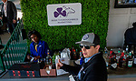 November 3, 2018 : A woman sets up the cocktail bar on Breeders Cup World Championships Saturday at Churchill Downs on November 3, 2018 in Louisville, Kentucky. Scott Serio/Eclipse Sportswire/CSM
