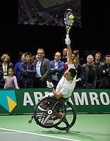 Februari 13, 2015, Netherlands, Rotterdam, Ahoy, ABN AMRO World Tennis Tournament, Stephane Houdet (FRA) <br /> Photo: Tennisimages/Henk Koster