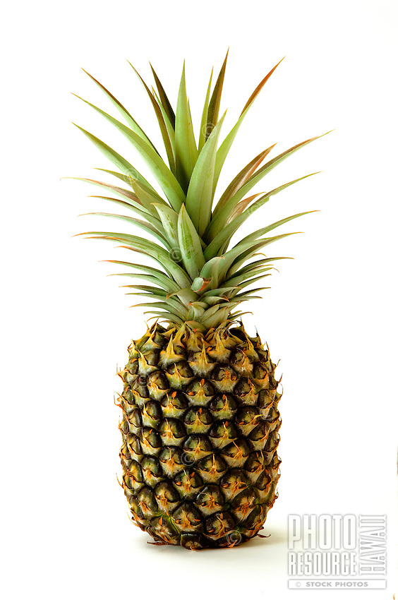 Single ripe pineapple