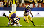The University of Washington football team plays the University of Colorado in the Pac-12 Championship Game at Levi's Stadium in Santa Clara, CA on December 2, 2016.(Photography by Scott Eklund/Red Box Pictures)