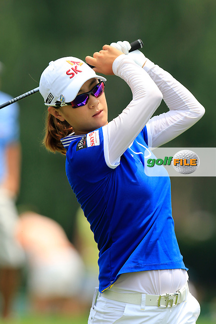 Na-Yeon Choi (KOR) tees off the 10th tee to start her match during Thursday's Round 1 of the 2015 KPMG Women's PGA Championship held at Westchester Country Club, Harrison, New York, USA. 6/11/2015.<br /> Picture &copy;Golffile/Eoin Clarke