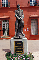 Statue of 19th-century German explorer and naturalist Friedrich Heinrich Alexander von Humboldt in Cuernavaca, Morelos, Mexico