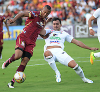 IBAGUE -COLOMBIA, 24-07-2016. Angelo Rodríguez jugador del  Tolima en acción contra  el Once Caldas durante encuentro  por la fecha 5 de la Liga Aguila II 2016 disputado en el estadio Murillo Toro./ Angelo Rodriguez player of Tolima in actions against Once Caldas   during match for the date 5 of the Aguila League II 2016 played at Murillo Toro stadium . Photo:VizzorImage / Juan Carlos Escobar  / Contribuidor