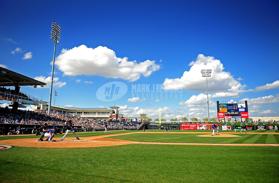 Mar. 10, 2010; Tempe, AZ, USA; General view of Surprise Stadium during the game between the Seattle Mariners against the Texas Rangers. Mandatory Credit: Mark J. Rebilas-