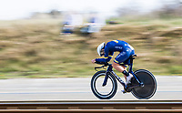 Peter Koning (NED/Aqua Blue) 'steaming by like a train'<br /> <br /> 3 Days of De Panne 2017<br /> afternoon stage 3b: ITT De Panne-De Panne (14,2km)