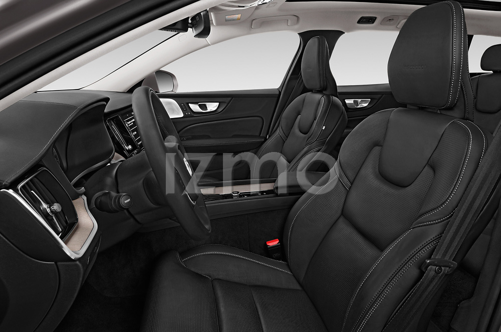 Front seat view of a 2019 Volvo V60 Inscription 5 Door Wagon front seat car photos