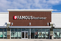Famous Footwear, branded store exterior, Orlando, Florida, USA.