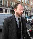 """Pic shows: Simon Pegg<br /> <br /> Funeral of Roger Lloyd-Pack - """"Trigger"""" from Only Fools and Horses.<br /> <br /> Mourners arriving at the service at Actors Church in Covent Garden -<br /> <br /> <br /> <br /> <br /> Pic by Gavin Rodgers/Pixel 8000 Ltd"""