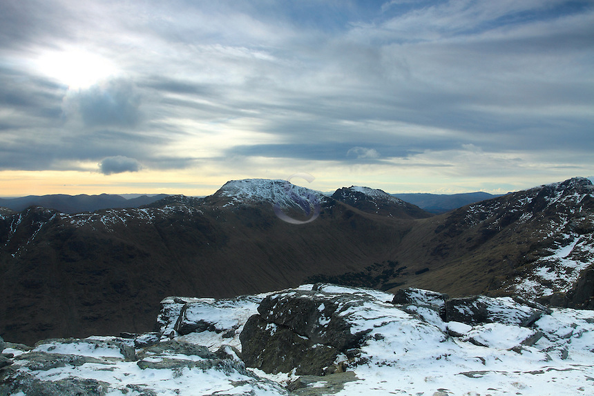 A Chrois and The Cobbler (Ben Arthur) from the summit of Ben Vane, Loch Lomond and The Trossachs National Park<br /> <br /> Copyright www.scottishhorizons.co.uk/Keith Fergus 2011 All Rights Reserved