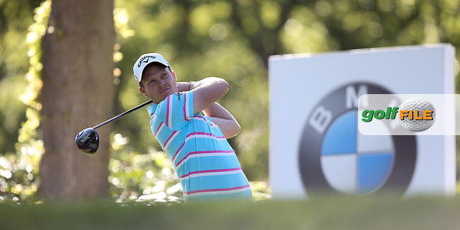 Danny Willett (ENG) drives the 17th during Round One of the 2015 BMW PGA Championship over the West Course at Wentworth, Virginia Water, London. 21/05/2015Picture David Lloyd, www.golffile.ie.